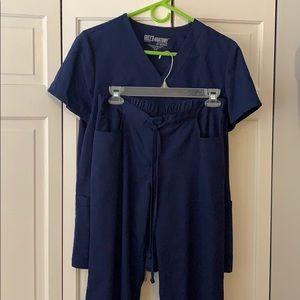 Grey's Anatomy Indigo Scrub Set